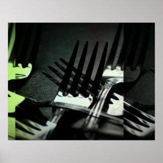 Kitchen Forks Poster