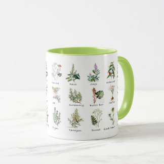 Kitchen Garden Herb Mugs