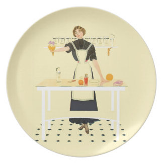 Kitchen Girl Plate