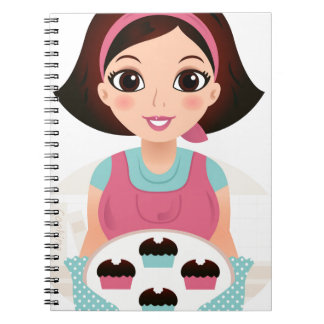 Kitchen girl with Cookies Notebooks