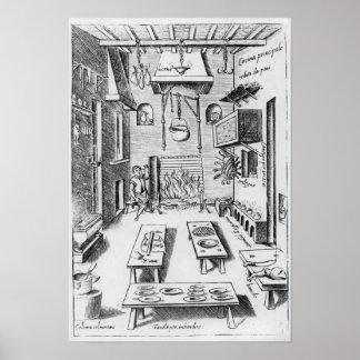 Kitchen interior poster