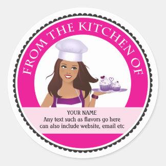 Kitchen Label Bakery Professional Design Round Sticker