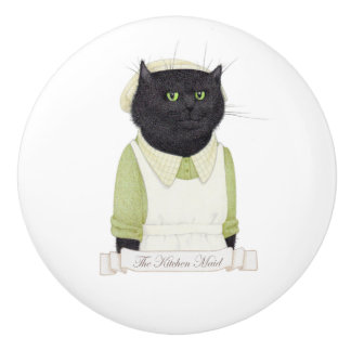 Kitchen Maid Cat Ceramic Drawer Knob
