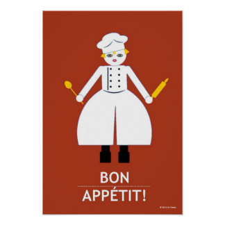 "Kitchen Martzkin "" Bon Appétit!"" Poster"
