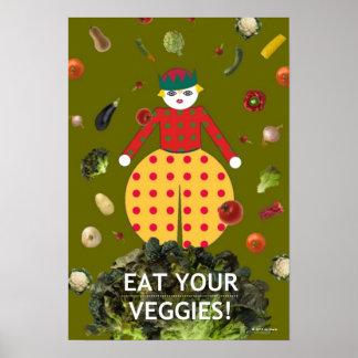 "Kitchen Martzkin ""EAT YOUR VEGGIES!"" Poster"