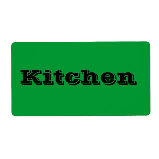 Kitchen Moving Labels in Green