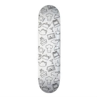 Kitchen Pattern 4 Skate Board Deck