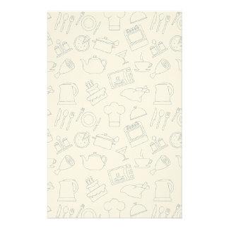 Kitchen Pattern 4 Stationery
