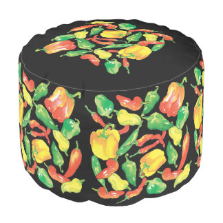 kitchen-peppers pouf