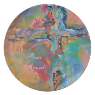 Kitchen Plate-Peace Accord by Deb Magelssen Plate