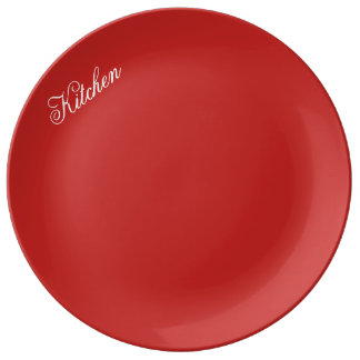 kitchen plate red
