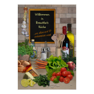 Kitchen poster with your name!