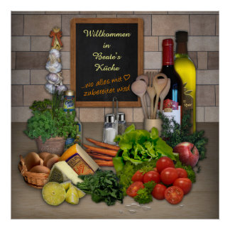 Kitchen poster with your name