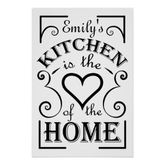 Kitchen quote design to be personalized. poster