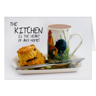 Kitchen saying note card with Afternoon Tea