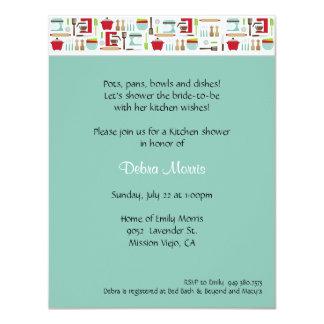 Kitchen Shower 11 Cm X 14 Cm Invitation Card