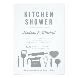 "Kitchen Shower | Bridal Shower Invitation Template 5"" X 7"" Invitation Card"