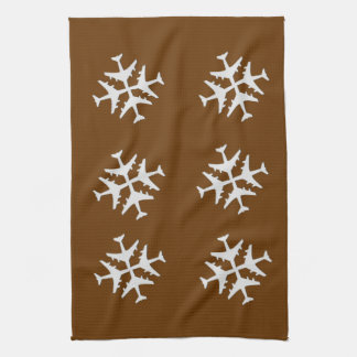 Kitchen Snowflakes Hand Towels