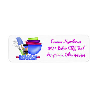 Kitchen Supplies Baking  Return Address Labels
