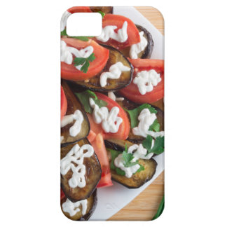 Kitchen table with a dish of stewed eggplant iPhone 5 cover