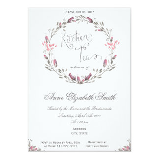 Kitchen Tea Bridal Shower Invitation