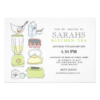 Kitchen Tea Bridal Shower Party Invite