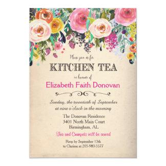 Kitchen Tea Floral Watercolor Invitation