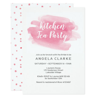 Kitchen Tea Party Bridal Shower Invitation