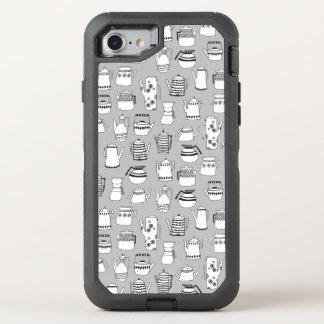 Kitchen Tea Pot Teapot Grey Simple / Andrea Lauren OtterBox Defender iPhone 7 Case