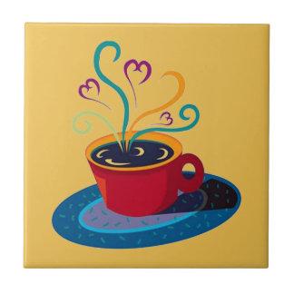 Kitchen Tile Trivet Coffee Cup Love Tea Bar Klatch