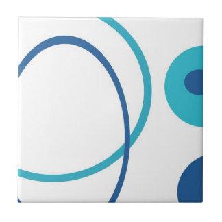 kitchen tiles - blue circles