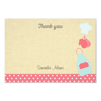 "Kitchen Tools Bridal Shower Thank You Card 3.5"" X 5"" Invitation Card"