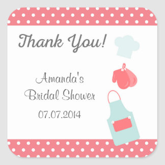 Kitchen Tools Bridal Shower Thank You Stickers