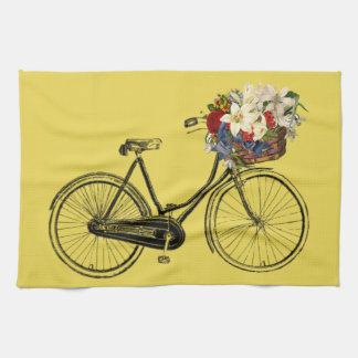 Kitchen towel bicycle flower bike