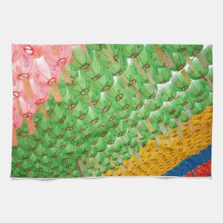 Kitchen Towel: Colorful Korean Paper Lamps Kitchen Towel