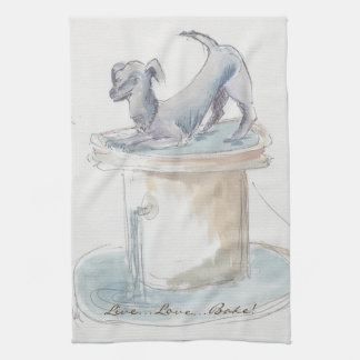 "Kitchen Towel ""Dog/London"""