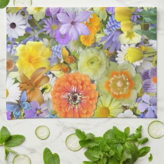 Kitchen Towel - Flowers and Butterflies