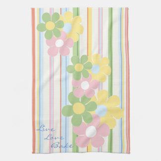 "Kitchen Towel ""Flowers & Stripes"""