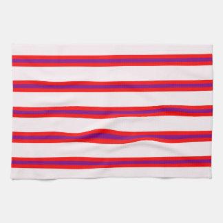 Kitchen Towel - Lavendar Blush Base, Long stripes