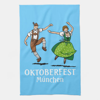 Kitchen Towel Oktoberfest München Dancing Couple