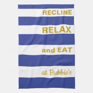 "Kitchen Towel Passover/Blue, ""EAT AT... """