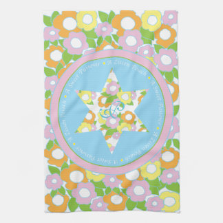 "Kitchen Towel ""Passover Flowers Pastels"""