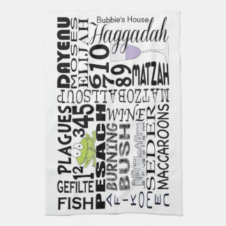 "Kitchen Towel ""Passover Words"""