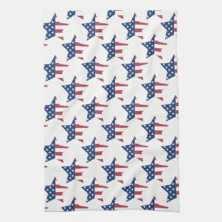 Kitchen Towel-Patriotic Stars Tea Towel