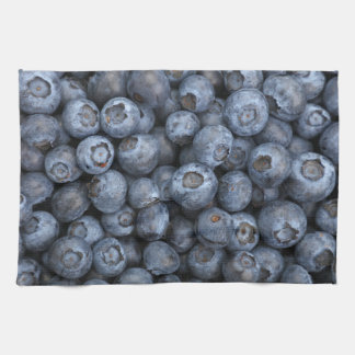 Kitchen towel print with blueberry
