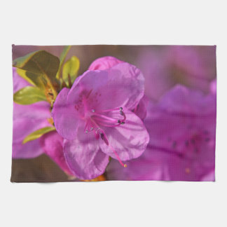 Kitchen towel print with pink Azalea flower