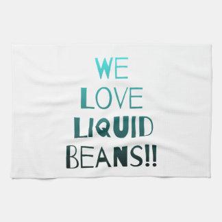 Kitchen Towel, Teal Fade We Love Liquid Beans Tea Towel