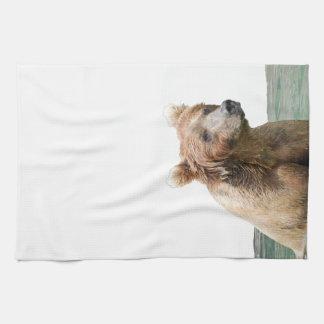 Kitchen Towel w/ grizzly bear