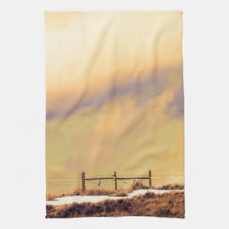 Kitchen Towel Western Rustic Landscape