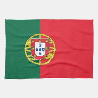 Kitchen towel with Flag of Portugal